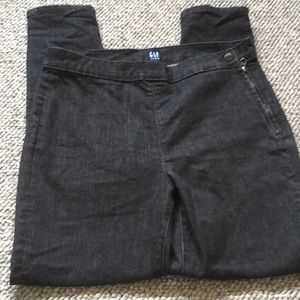 Gap true skinny high waisted dark gray jeans